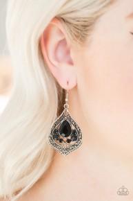 Malibu Mama - Black Earrings