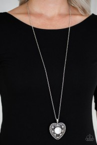 One Heart - White Necklace