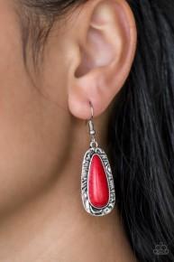 Cruzin' Colorado - Red Earrings