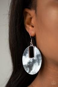 Haute Heiress - Black Acrylic Earrings
