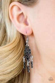 Spring Bling - Black Earrings