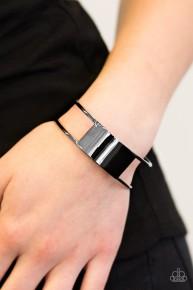 Set The Sheen - Black Cuff Bracelet