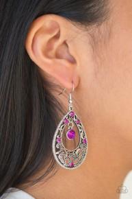 Gotta Get That Glow - Pink Earrings