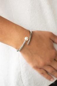 Industrial Impact - White Hinge Bracelet