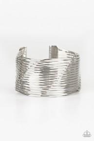 Retro Revamp - Silver Cuff Bracelet