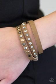 Catwalk Casual - Brown Urban Bracelet