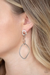 Twisted Trio - Silver Post Earrings