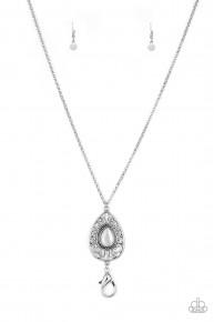 Modern Majesty - White Necklace/Lanyard