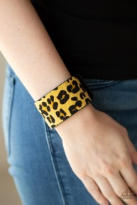 Cheetah Cabana - Yellow Urban Bracelet