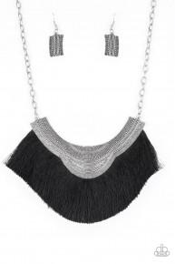 My Pharaoh Lady - Black Fringe Necklace