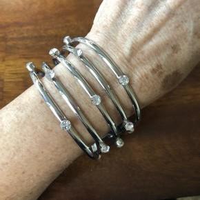 Sugarlicious Sparkle - White Cuff Bracelet