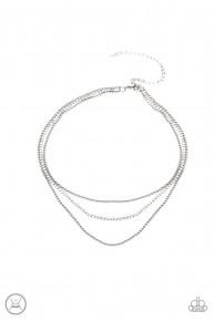 Retro Minimalism - White Choker Necklace