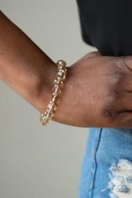 Crystal Candelabras - Brown Bracelet