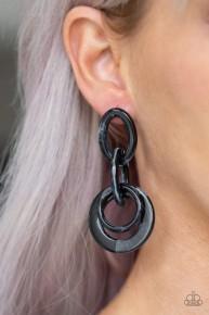Havana Haute Spot - Black Acrylic Earrings