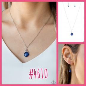 Romantic Razzle - Blue Necklace