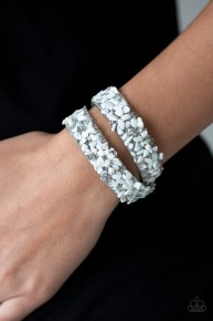 Crush To Conclusions - White Urban Wrap Bracelet