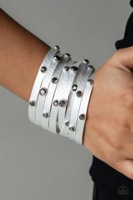 Go Getter Glamorous - Silver Urban Wrap Bracelet