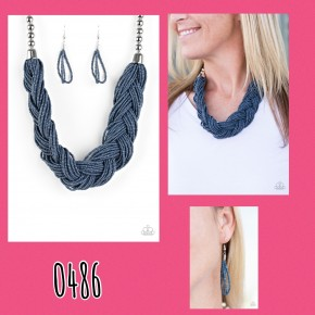 The Great Outback - Denim Blue Seed Bead Necklace