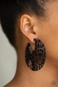 Hit Or Hiss - Black Acrylic Earrings