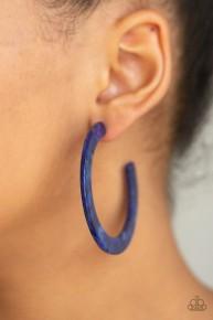 Haute Tamale - Blue Hoop Acrylic Earrings