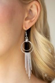 Eye-Catching Edge - Silver Earrings
