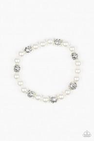 Poised For Perfection - White Bracelet
