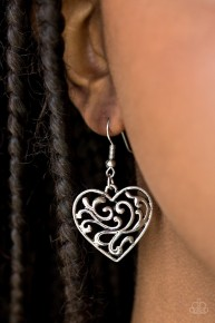 The Truth Hearts - Silver Earrings