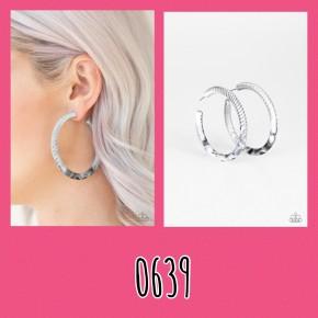 Miami Minimalist - White/Grey Earrings