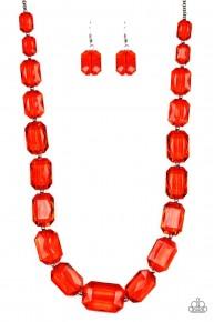 Ice Versa - Red Acrylic Necklace