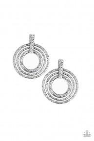 Ever Elliptical - Silver Post Earrings