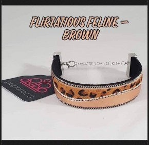 Flirtatiously Feline - Brown Urban Bracelet