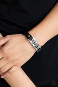 Count Your Blessings - Black Bracelet