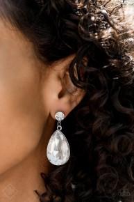 Debutante Dazzle - White Earrings