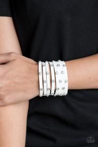 Sass Squad - White Urban Bracelet