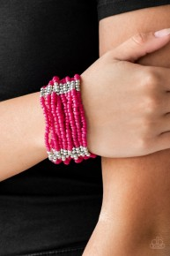 Outback Odyssey - Pink Seed Bead Bracelet