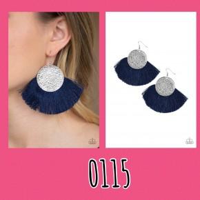 Foxtrot Fringe - Blue Fringe Earrings