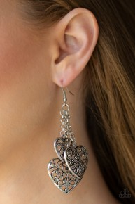 Once Upon A Heart - Silver Earrings