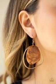 HAUTE Toddy - Brown Acrylic Earrings