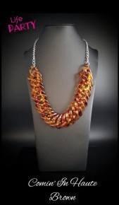 Comin' In Haute - Brown Acrylic Necklace