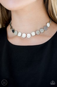 Faster Than Spotlight - Silver Choker Necklace