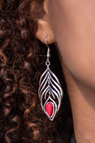 Bold Little Bird - Red Earrings