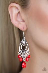 Fashion Flirt - Red Earrings