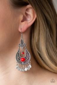 Fiesta Flair - Red Earrings