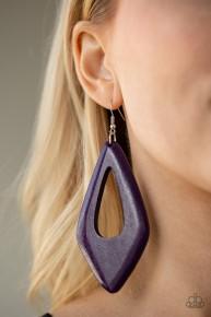 A SHORE Bet - Purple Wooden Earrings