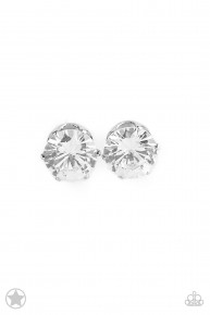 Just In Timeless - White Post Earrings