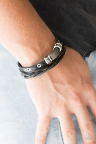 Road Rally - Black Urban Bracelet