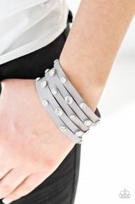 Rhinestone Reputation - Silver Urban Bracelet