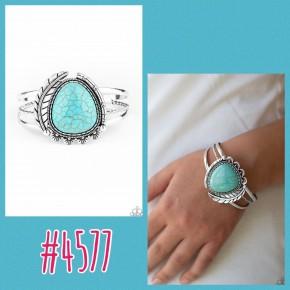 Nature's Bounty - Blue Cuff Bracelet