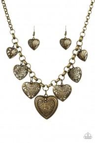 Love Lockets - Brass Necklace