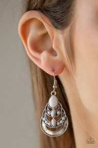 Boho Brilliance - White Earrings